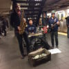 Subway serenade makes for a platform party
