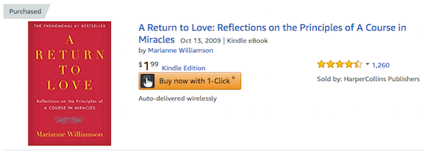 purchased Return to Love Marianne Williamson