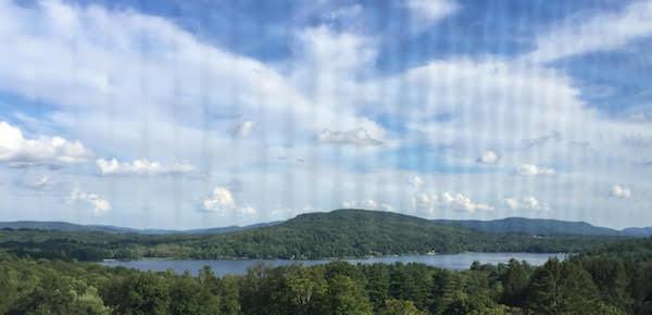lake side view on retreat